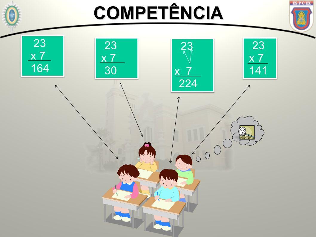COMPETÊNCIA 23 x 7 164 23 x 7 30 23 x 7 23 x 7 141 224