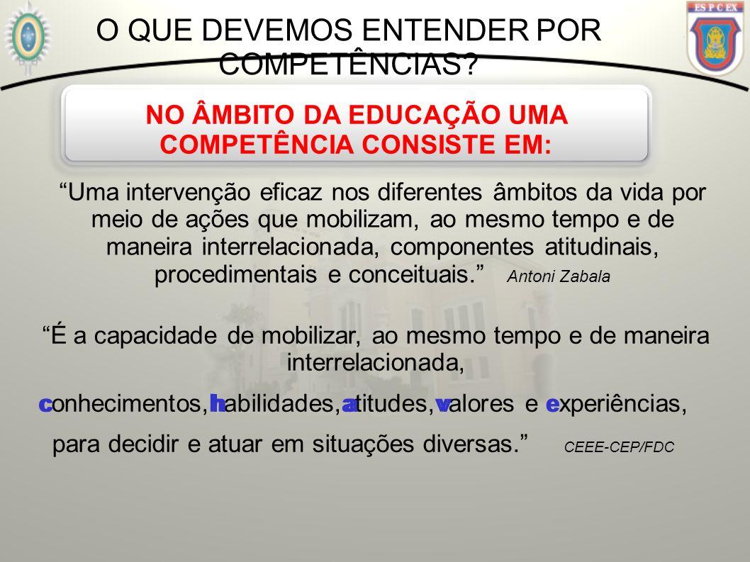 NO ÂMBITO DA EDUCAÇÃO UMA COMPETÊNCIA CONSISTE EM: