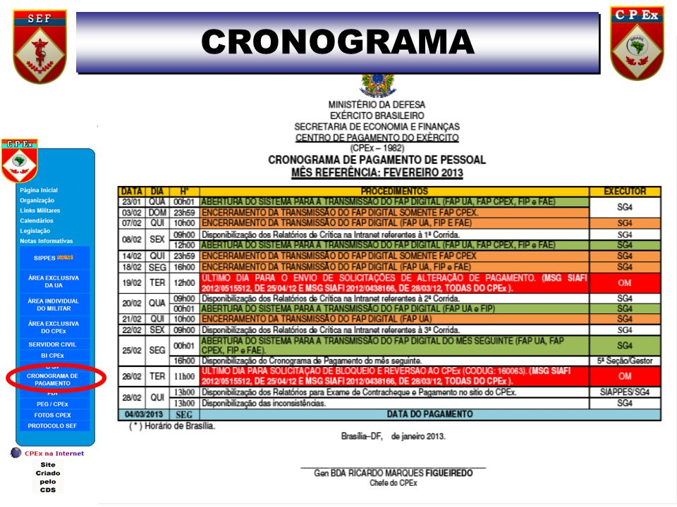 CRONOGRAMA 13