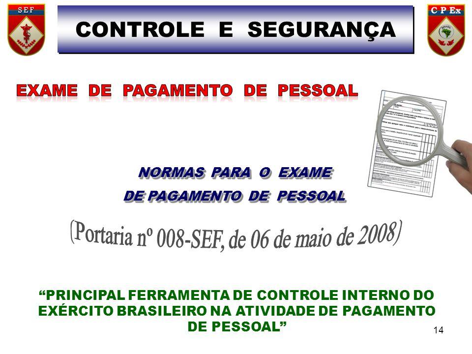 DE PAGAMENTO DE PESSOAL