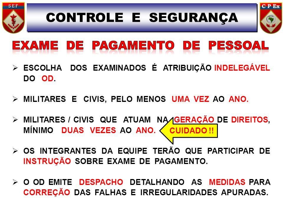 EXAME DE PAGAMENTO DE PESSOAL