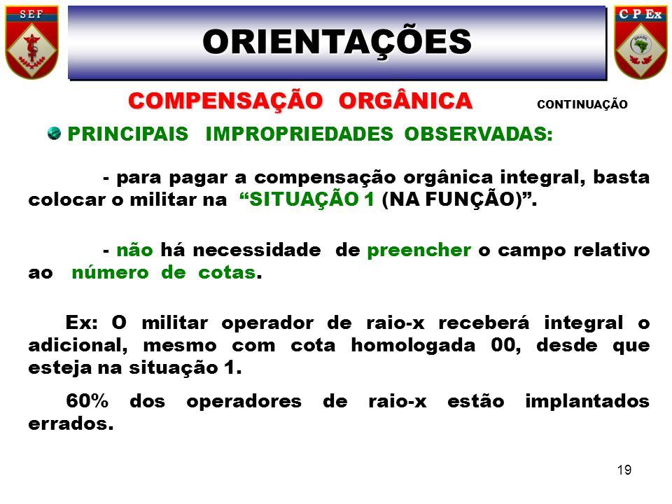 PRINCIPAIS IMPROPRIEDADES OBSERVADAS:
