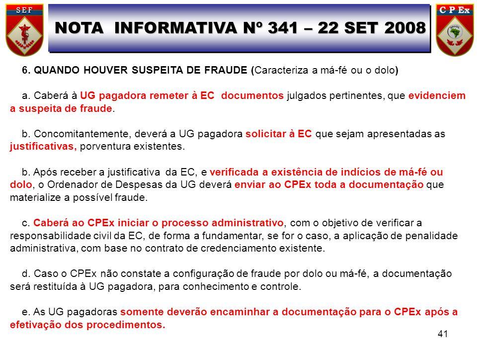 NOTA INFORMATIVA Nº 341 – 22 SET 2008