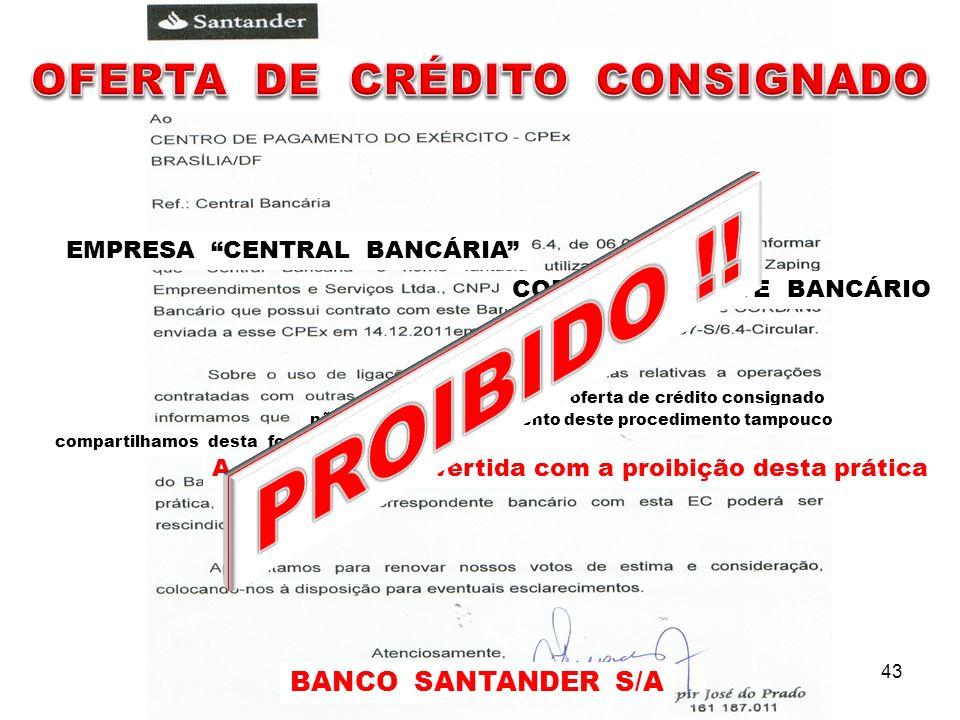 OFERTA DE CRÉDITO CONSIGNADO