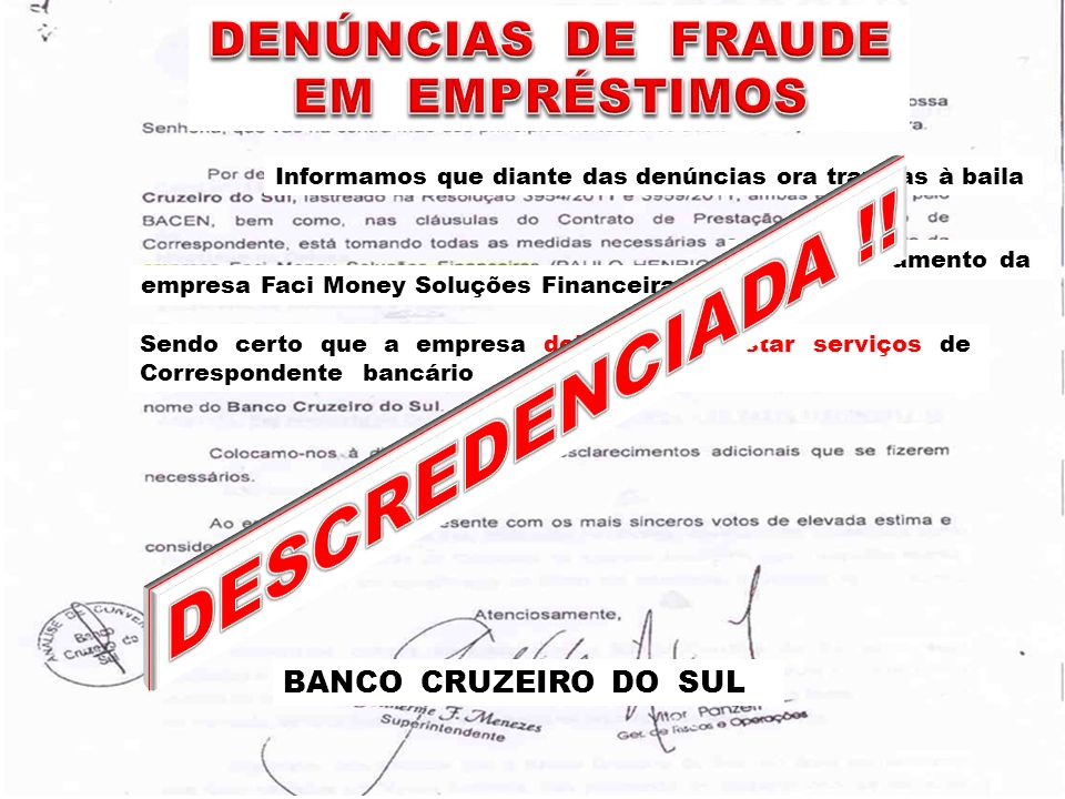 DESCREDENCIADA !! DENÚNCIAS DE FRAUDE EM EMPRÉSTIMOS
