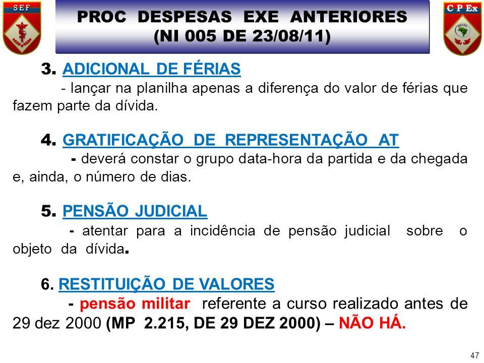 PROC DESPESAS EXE ANTERIORES