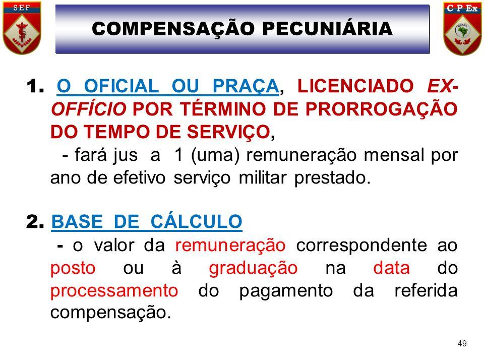 COMPENSAÇÃO PECUNIÁRIA