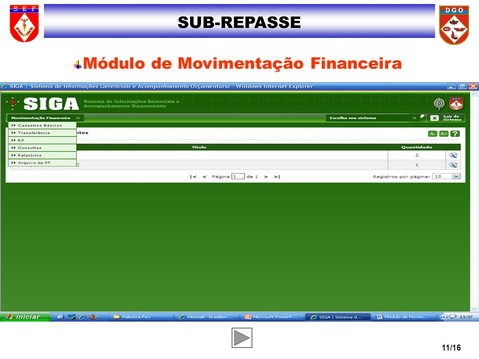 Módulo de Movimentação Financeira