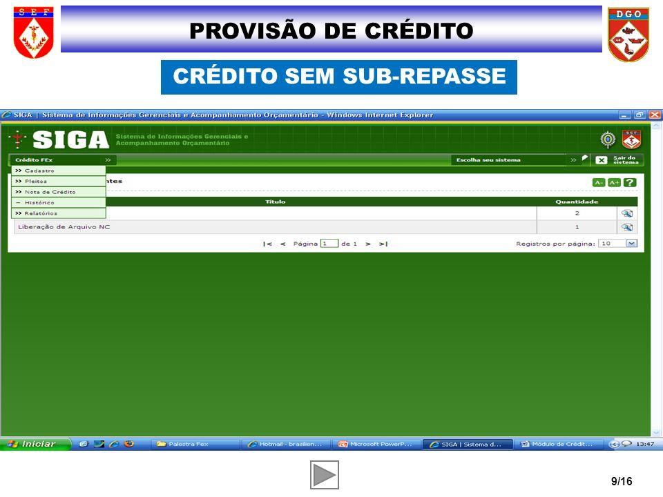 CRÉDITO SEM SUB-REPASSE