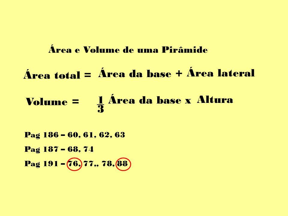 Área e Volume de uma Pirâmide