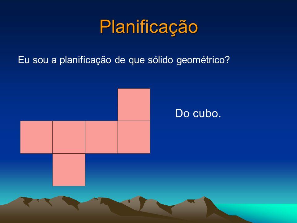 Planificação Eu sou a planificação de que sólido geométrico Do cubo.