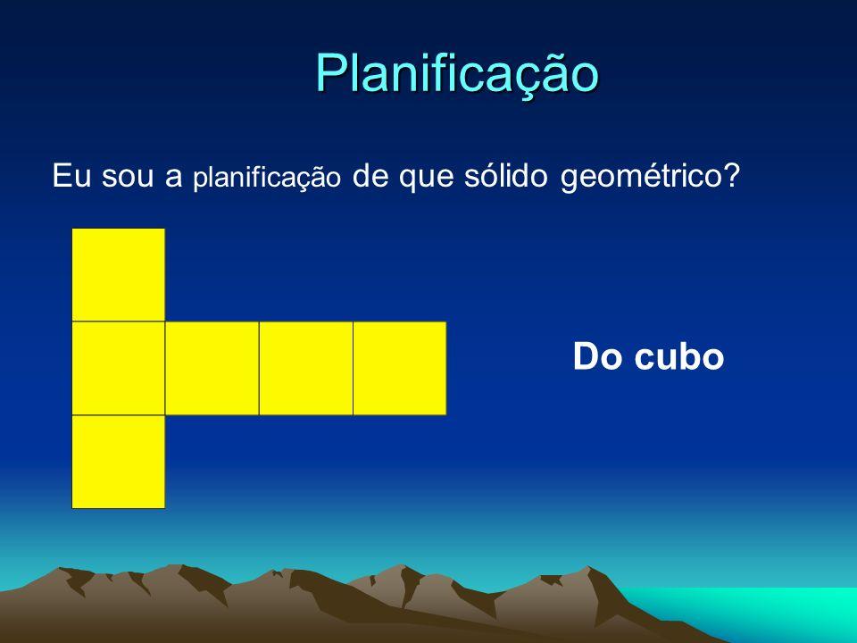 Planificação Eu sou a planificação de que sólido geométrico Do cubo