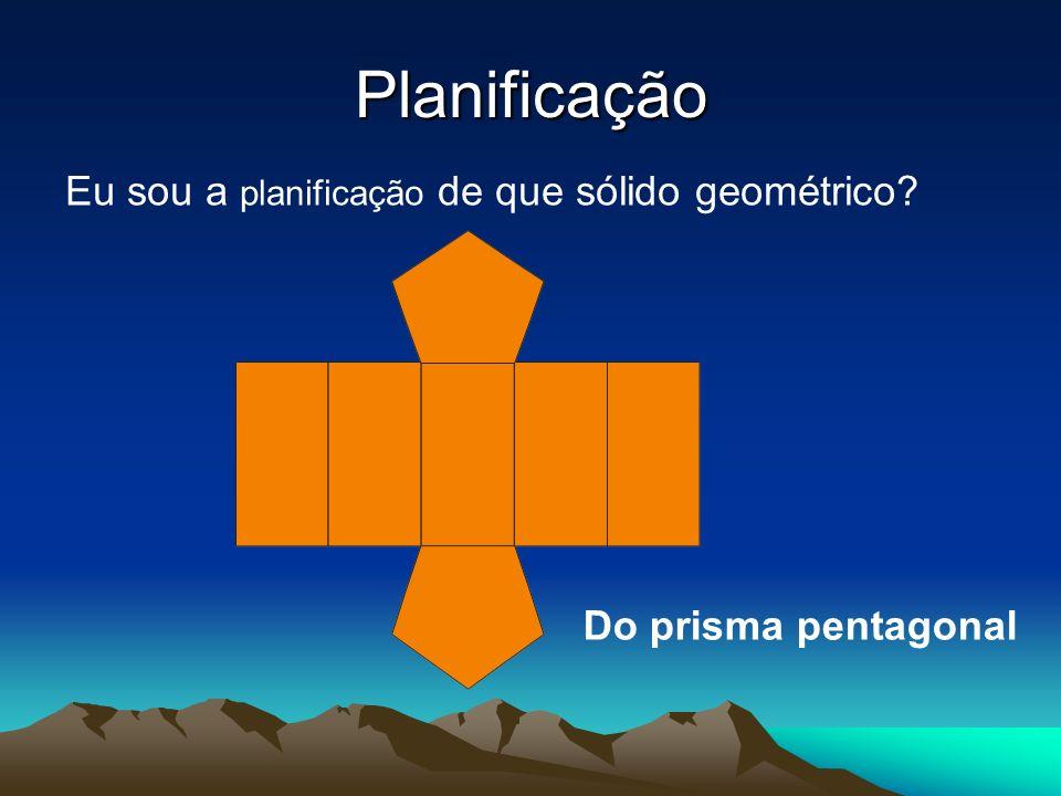 Planificação Eu sou a planificação de que sólido geométrico