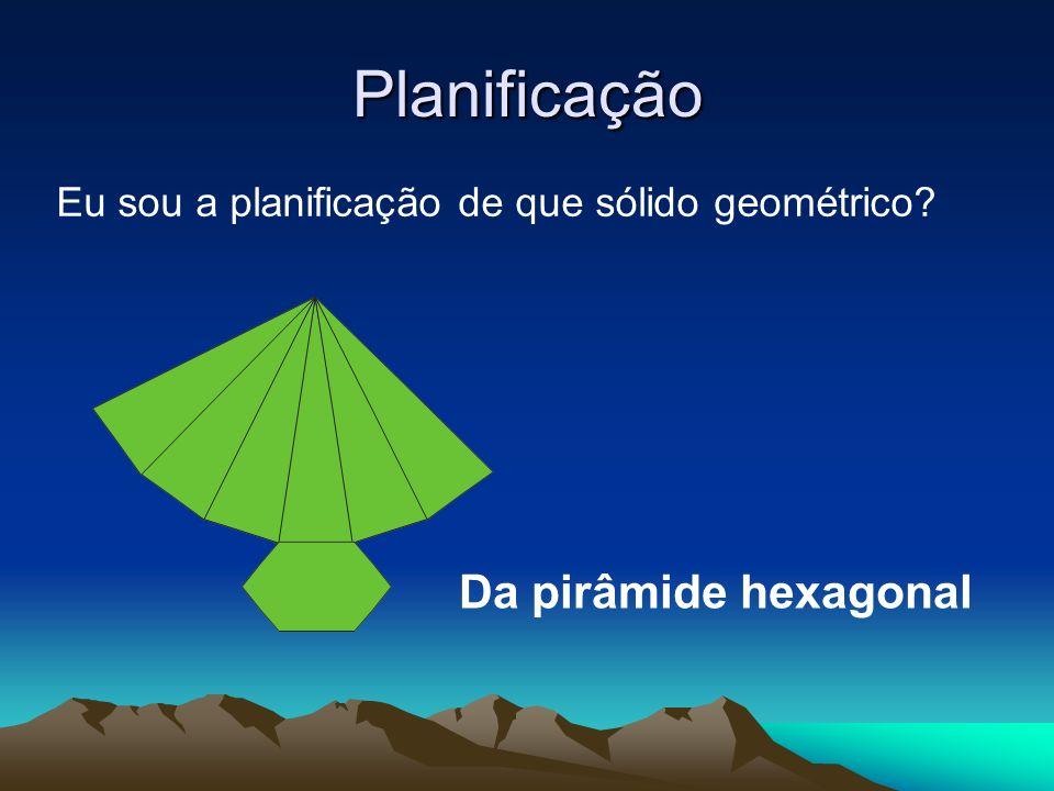 Planificação Da pirâmide hexagonal