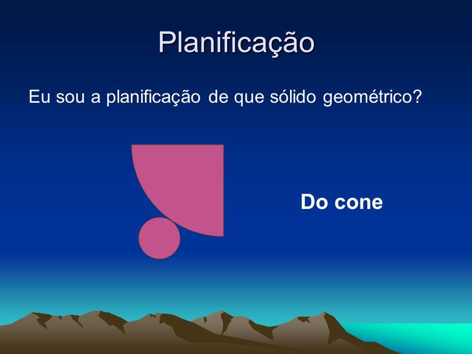 Planificação Eu sou a planificação de que sólido geométrico Do cone