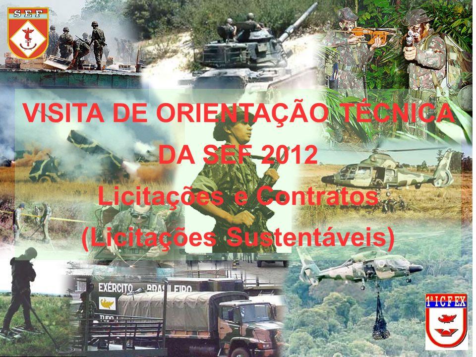 VISITA DE ORIENTAÇÃO TÉCNICA DA SEF 2012