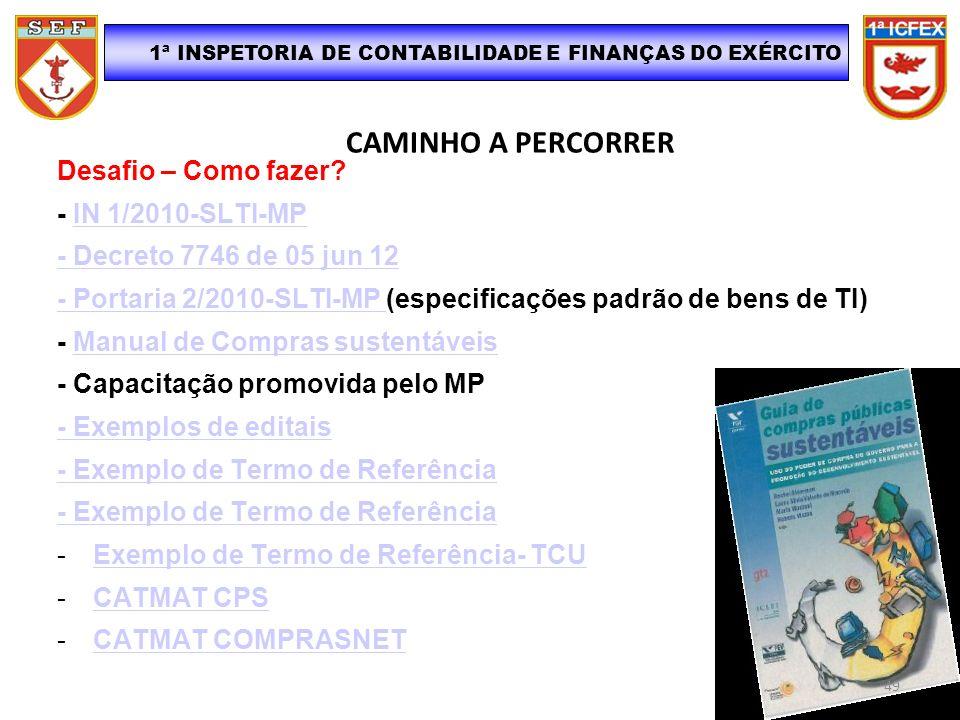 1ª INSPETORIA DE CONTABILIDADE E FINANÇAS DO EXÉRCITO