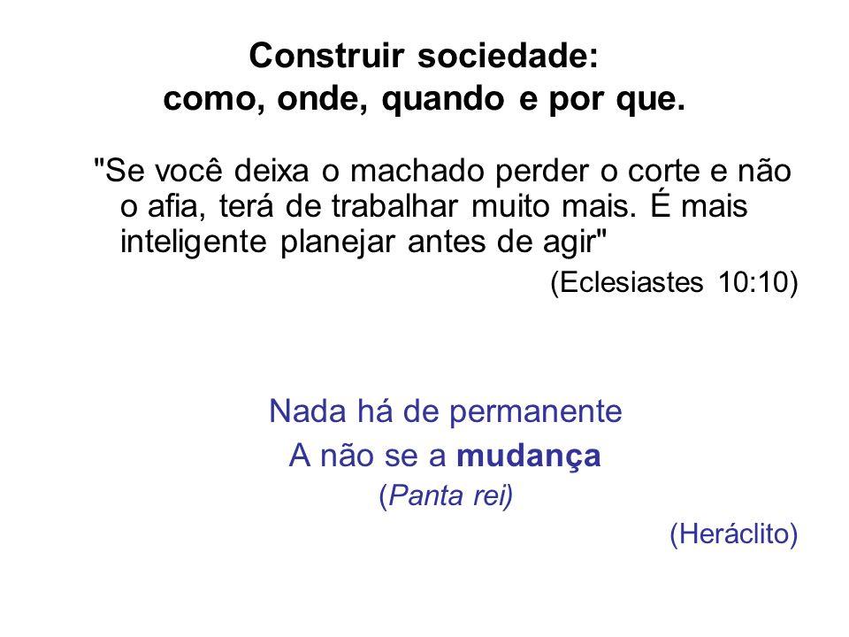 Construir sociedade: como, onde, quando e por que.