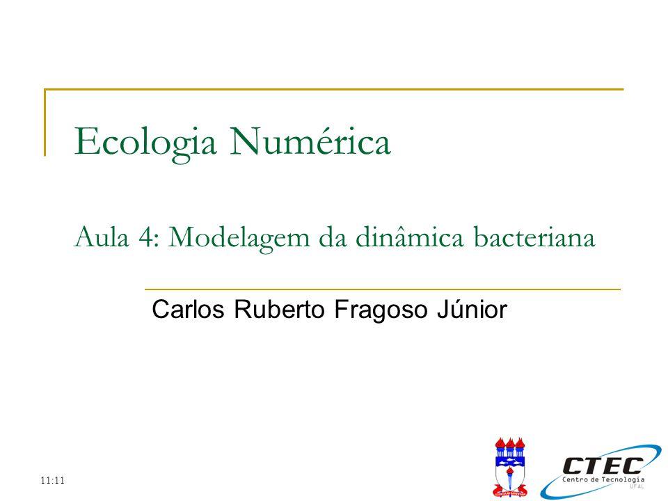Ecologia Numérica Aula 4: Modelagem da dinâmica bacteriana