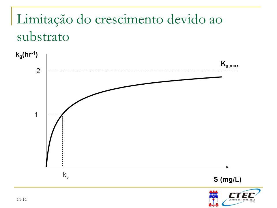 Limitação do crescimento devido ao substrato