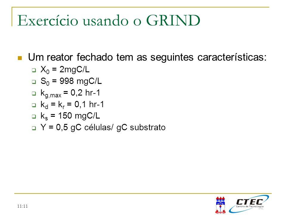 Exercício usando o GRIND