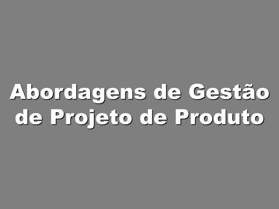 Abordagens de Gestão de Projeto de Produto