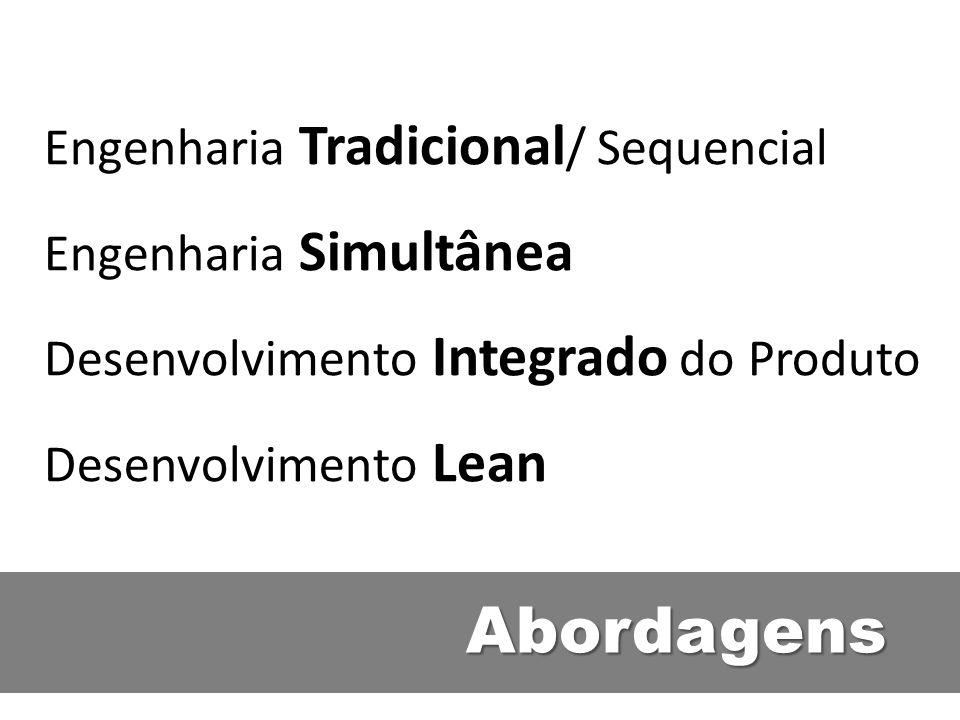 Abordagens Engenharia Tradicional/ Sequencial Engenharia Simultânea