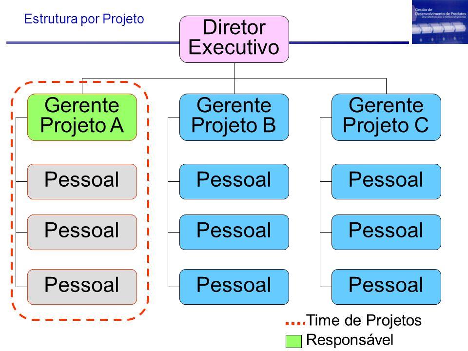 Diretor Executivo Gerente Projetos Gerente Projeto B Gerente Projeto C