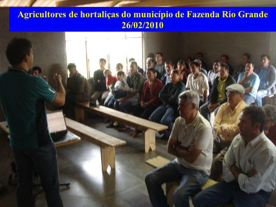 Agricultores de hortaliças do município de Fazenda Rio Grande 26/02/2010