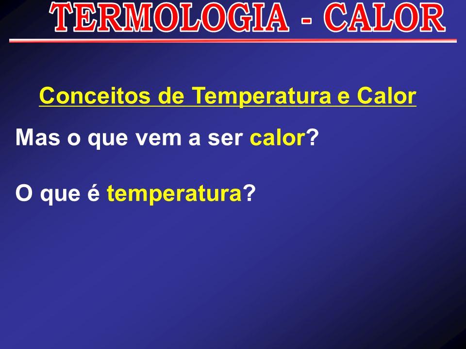 Conceitos de Temperatura e Calor