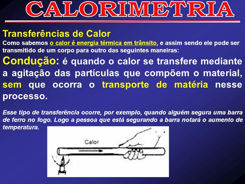 CALORIMETRIA Transferências de Calor.