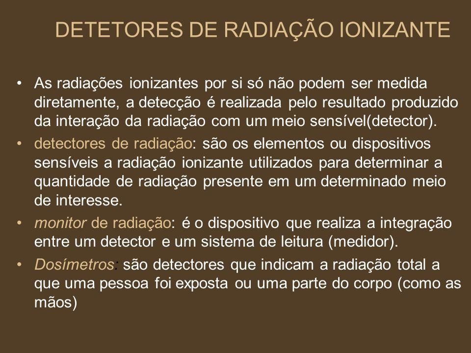 DETETORES DE RADIAÇÃO IONIZANTE