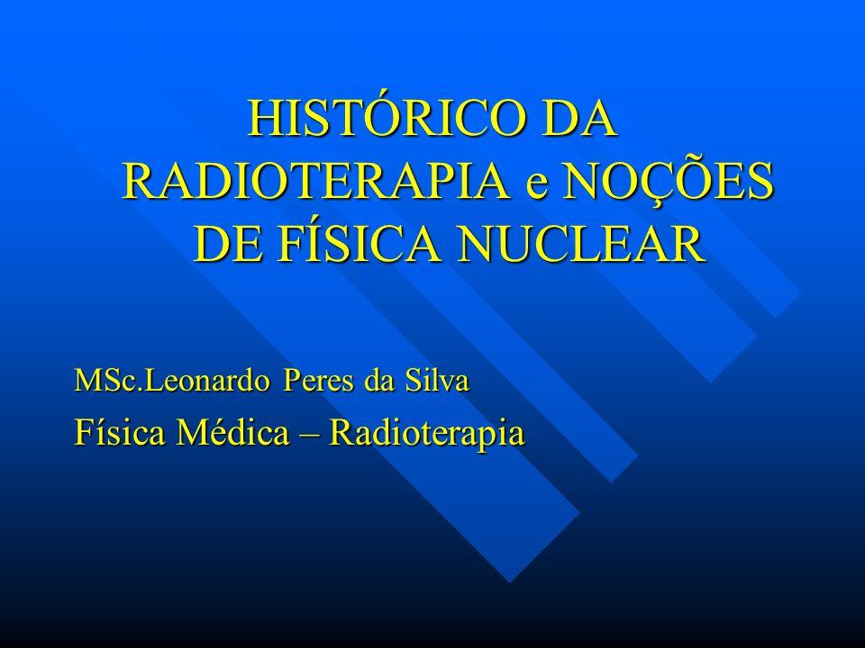 HISTÓRICO DA RADIOTERAPIA e NOÇÕES DE FÍSICA NUCLEAR