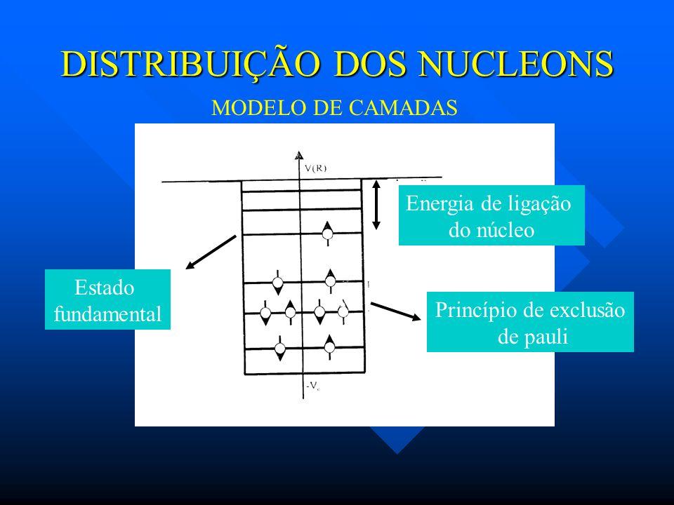 DISTRIBUIÇÃO DOS NUCLEONS