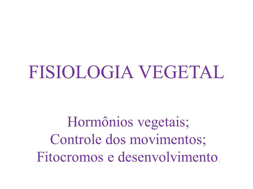 FISIOLOGIA VEGETAL Hormônios vegetais; Controle dos movimentos;