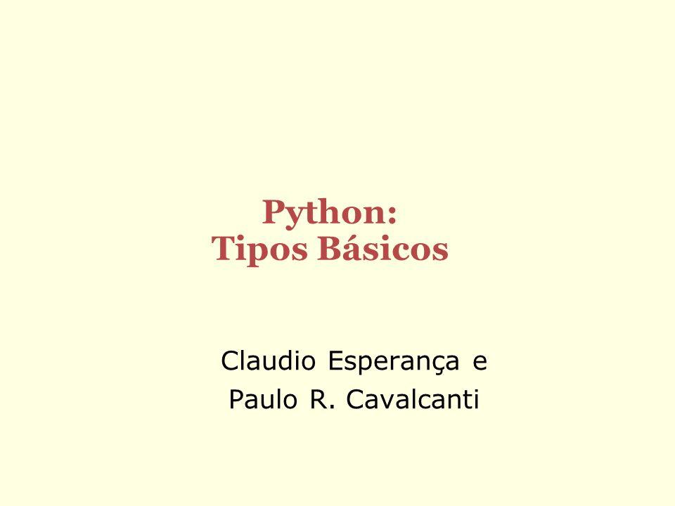 Claudio Esperança e Paulo R. Cavalcanti