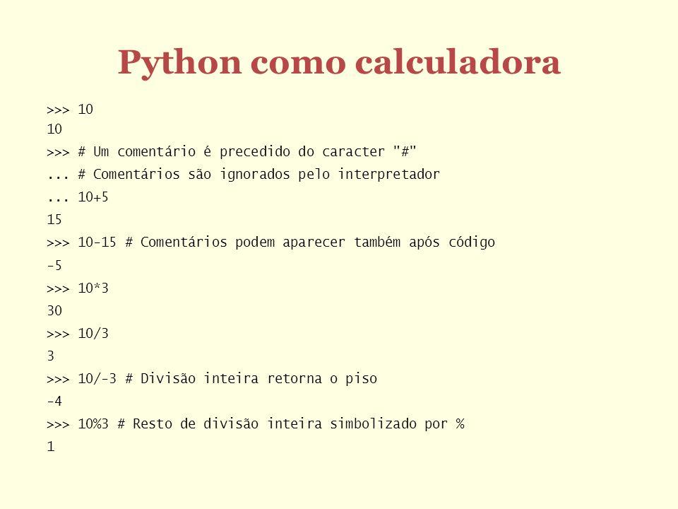 Python como calculadora