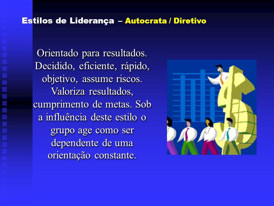 Estilos de Liderança – Autocrata / Diretivo