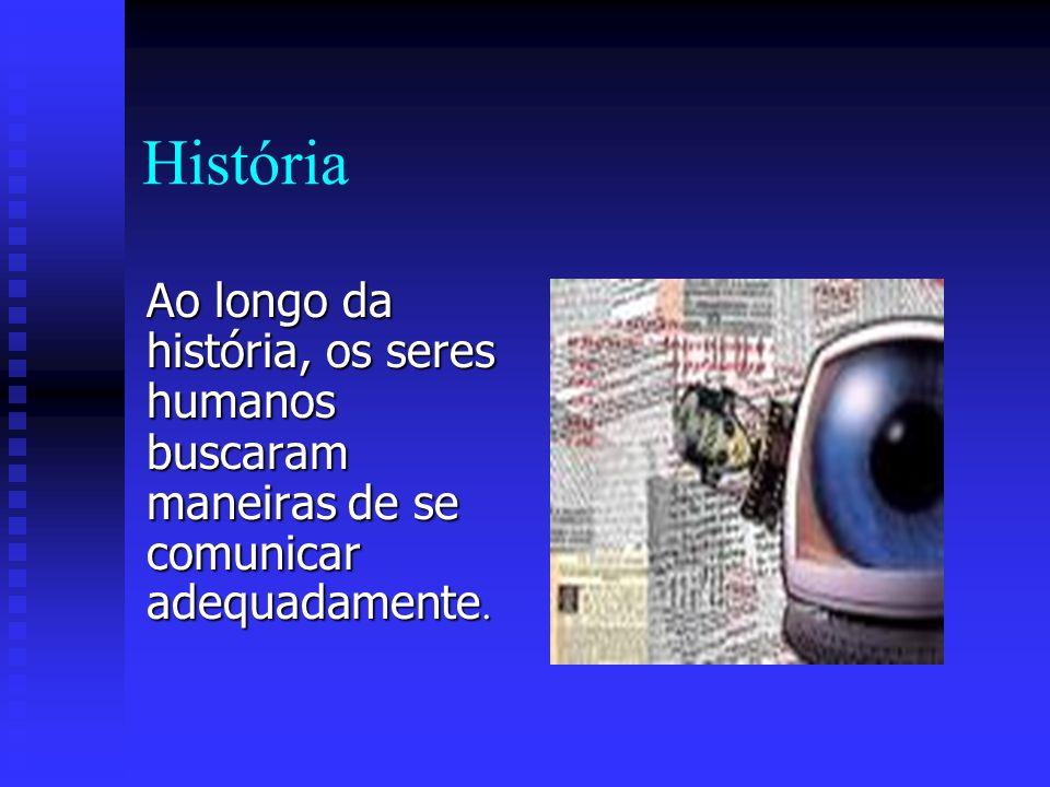 História Ao longo da história, os seres humanos buscaram maneiras de se comunicar adequadamente.