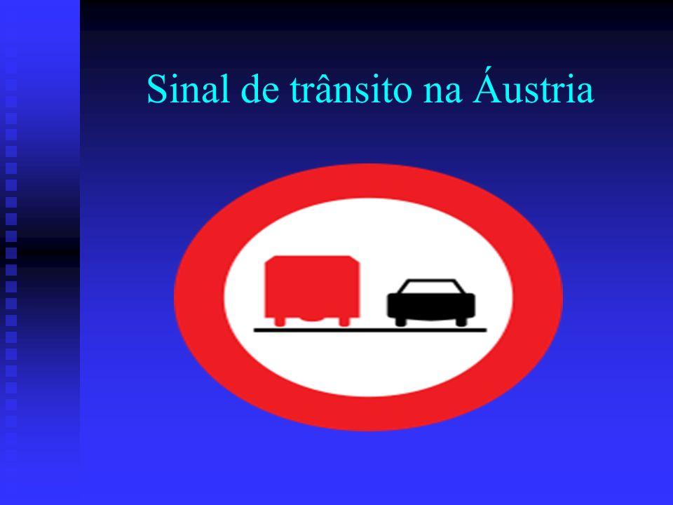 Sinal de trânsito na Áustria