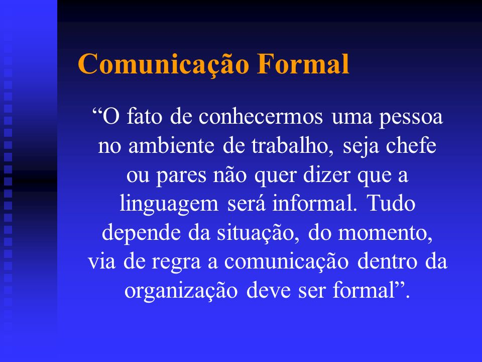 Comunicação Formal