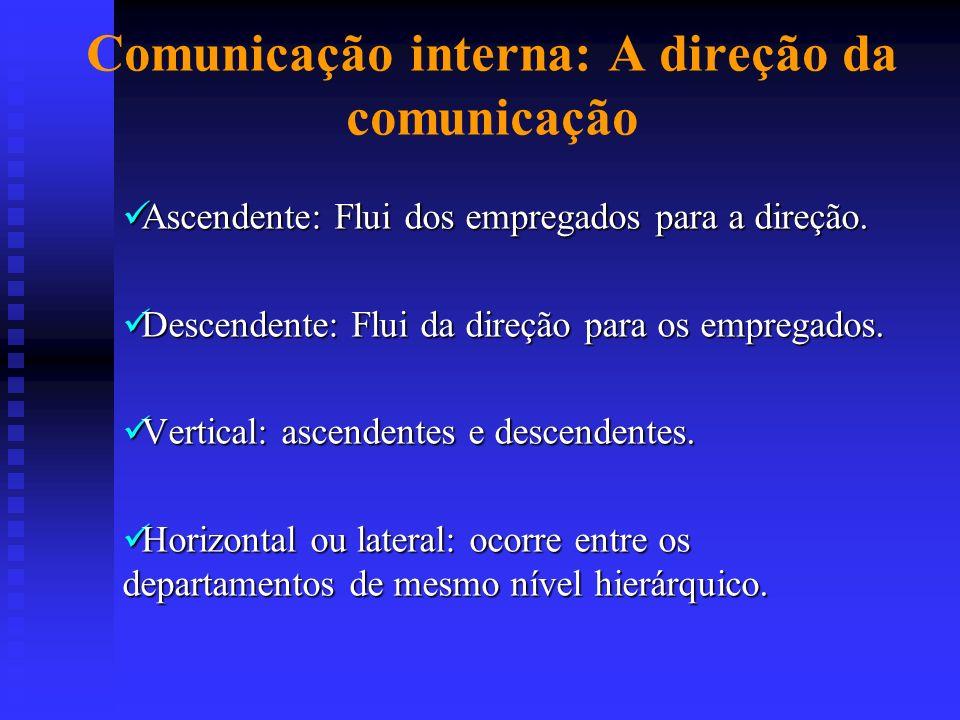 Comunicação interna: A direção da comunicação