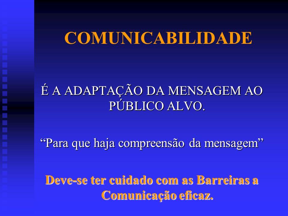 Deve-se ter cuidado com as Barreiras a Comunicação eficaz.