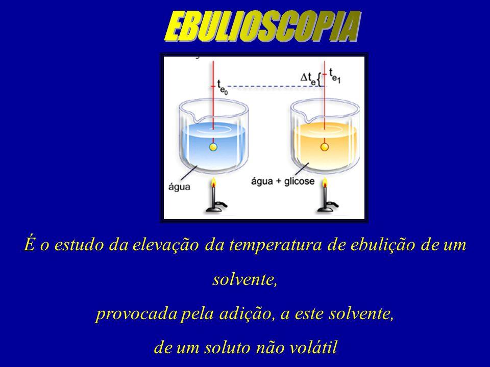 É o estudo da elevação da temperatura de ebulição de um solvente,