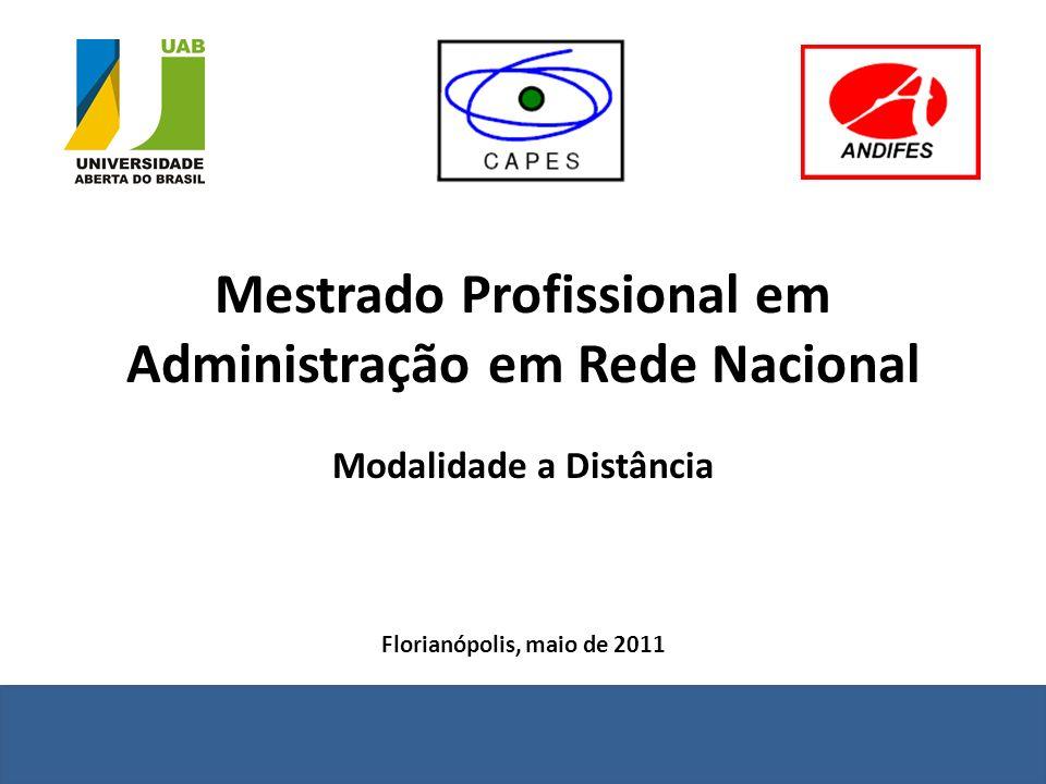 Mestrado Profissional em Administração em Rede Nacional