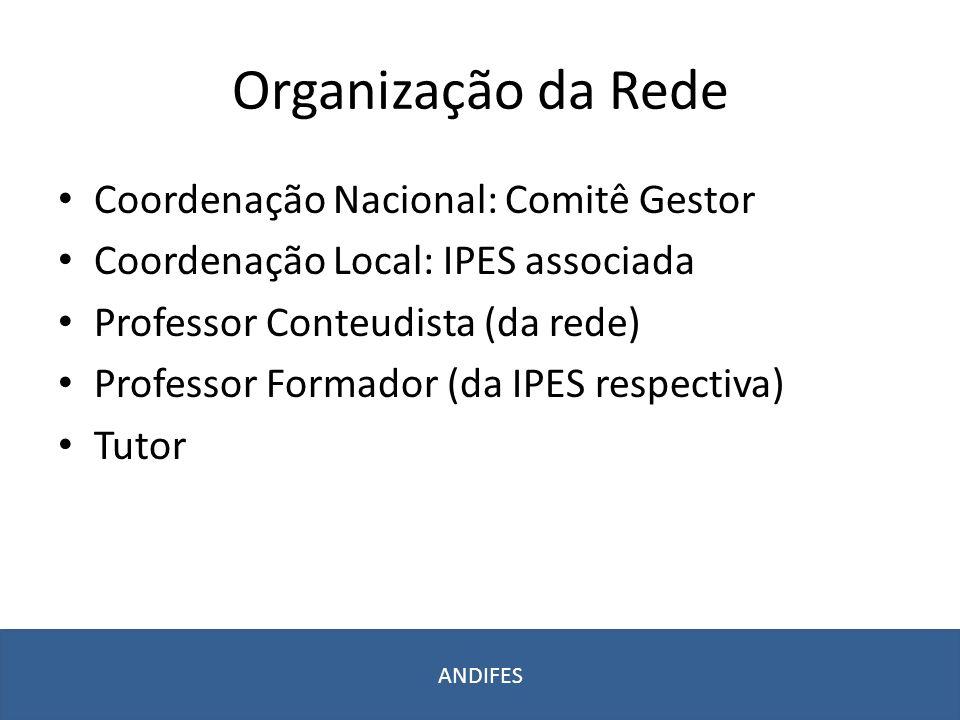 Organização da Rede Coordenação Nacional: Comitê Gestor