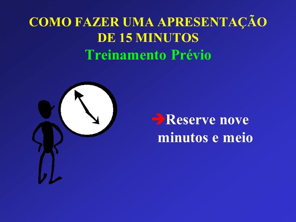 COMO FAZER UMA APRESENTAÇÃO DE 15 MINUTOS Treinamento Prévio