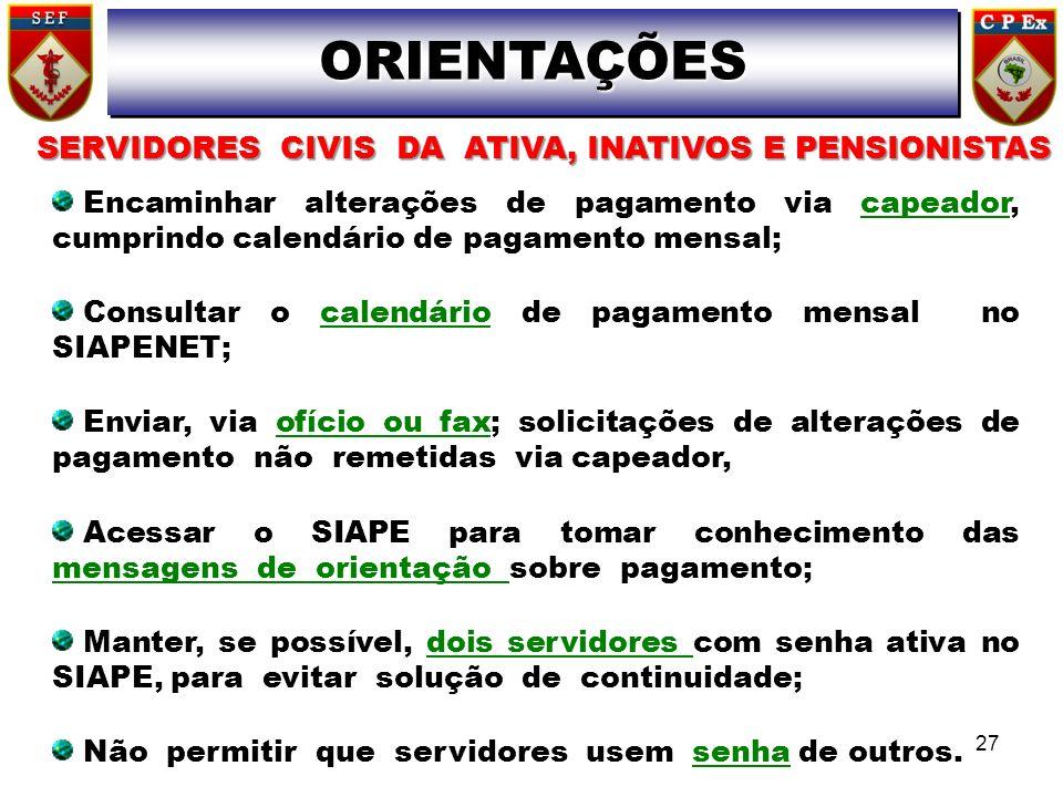 SERVIDORES CIVIS DA ATIVA, INATIVOS E PENSIONISTAS