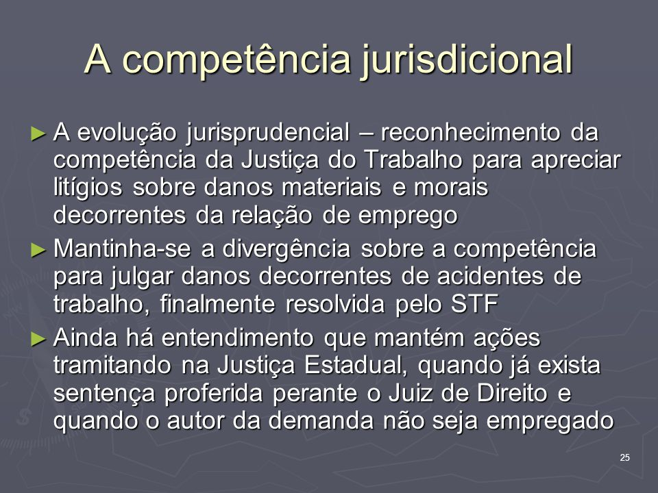 A competência jurisdicional