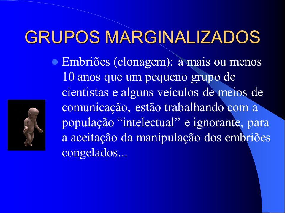 GRUPOS MARGINALIZADOS